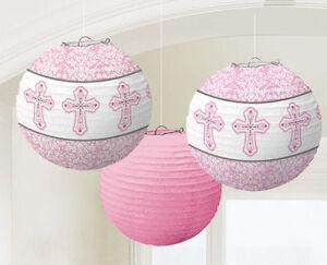 Amscan lampions de communion Rose