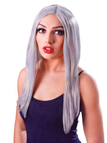 """Long  18/"""" Grey 18 Inch Fancy Dress Unisex Wig"""