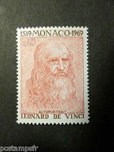 Monaco 1969, Timbre 800, Leonard De Vinci Tableau Autoportrait, Neuf** Mnh Prix ModéRé