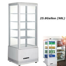 Top Grade Refrigerated Bakery Showcase Cake Pie Display Cabinet Case 110v Newest