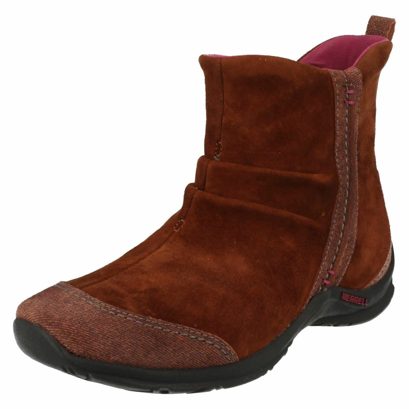 Ladies Merrell Madrasa Cinnamon Suede Leather Causal Ankle Boots