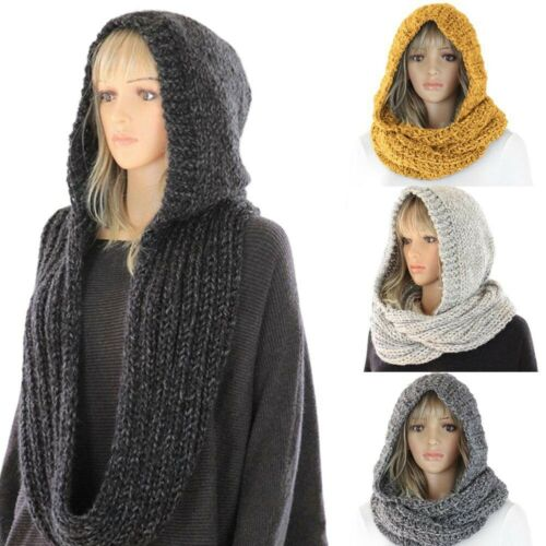 Fashion Soft Chunky Warm Scarf Pullover Knit Long Loop Infinity Hood Cowl Scarf