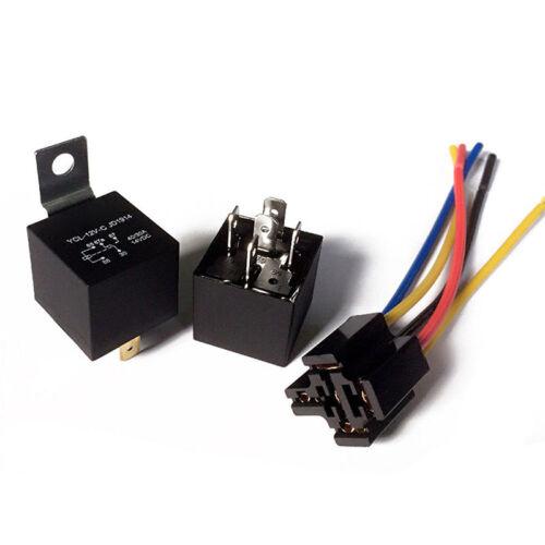 1X DC 12 V Auto SPDT Automotive Relais 5 Pin 5 Kabelbaum Buchse 30//40 Amp ZJP