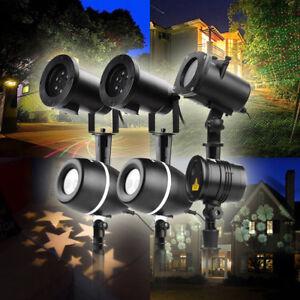 Led-Laser-Licht-Projektor-Lampe-Aussenbeleuchtung-Garten-Weihnachten-Lichterkette