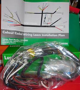 bsa a65 1968 clothbound wiring harness 54953385 ebay Bsa A10 Wiring Diagram image is loading bsa a65 1968 clothbound wiring harness 54953385