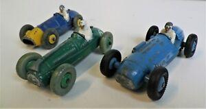 Dinky Toys 1950s F1 automóviles de carrera X 3
