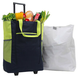 gp 20 carry on navy handy rolling shopping tote wheeled travel grocery bag ebay. Black Bedroom Furniture Sets. Home Design Ideas