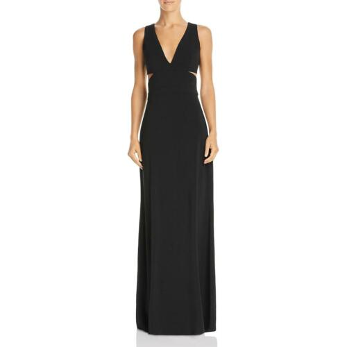 Laundry by Shelli Segal Womens Black Crepe Formal Evening Dress Gown 4 BHFO 3976