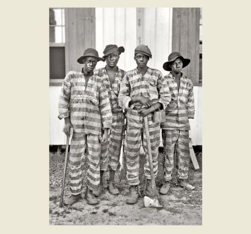 1905 Chain Gang PHOTO Black Negro Prisoners Jailhouse Georgia Convicts Prison