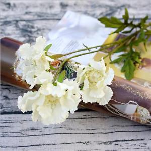 Artificial Silk Pinnacle Flower Spray White