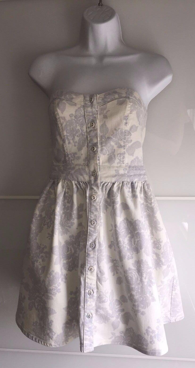 Warehouse Denim Floral Imprimé 60 Robe Bandeau-Taille 8-BNWT-RRP £ 60 Imprimé 748fcb