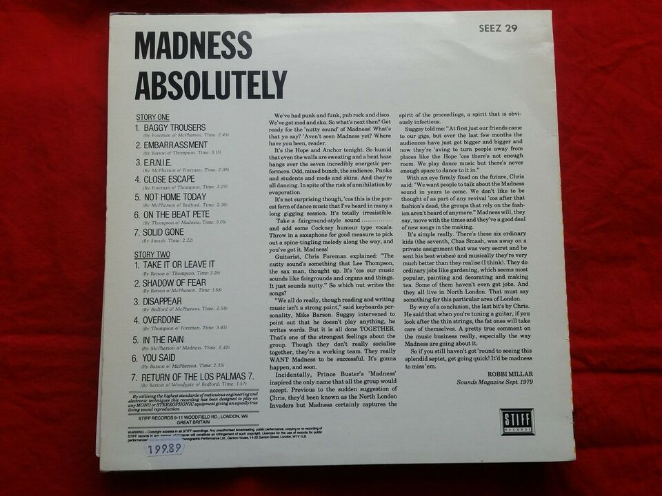 LP, Madness, Absolutely