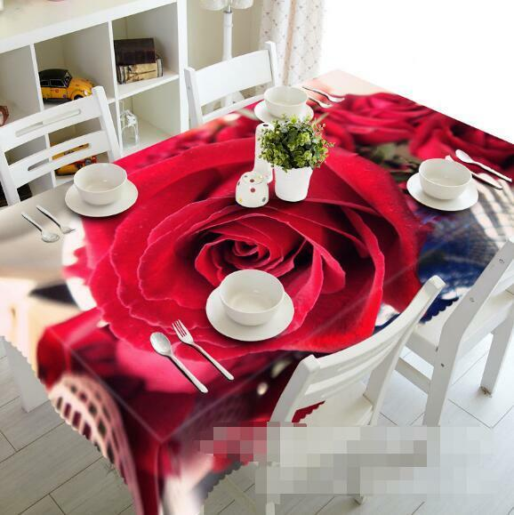 3D rouge rose 88 Tablecloth Table Cover Cloth Birthday Party Event AJ WALLPAPER AU