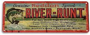 River-Runt-Lure-Fishing-Fish-Bait-Marina-Rustic-Fish-Metal-Decor-Metal-Sign