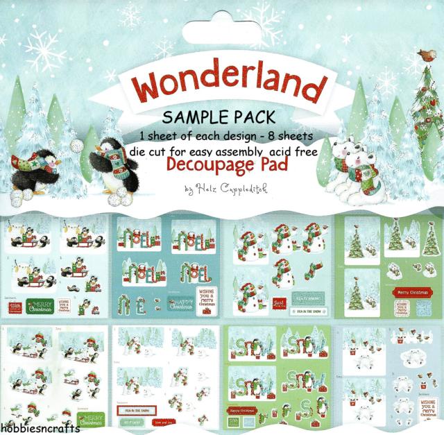 Winter Wonderland 24 Sheet Christmas Die Cut Decoupage Pad - 8 ...