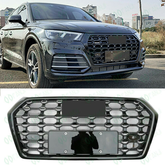 Full Black Front Bumper Vent Mesh Grille For Audi Q5 2018