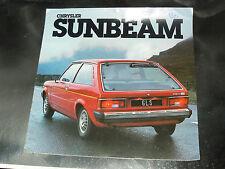 Grand Catalogue SIMCA TALBOT SUNBEAM 1979 prospekt  prospectus brochure Chrysler