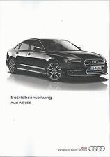 AUDI A6 S6 Limousine / Avant / A6 quattro C7 Betriebsanleitung 2015 Handbuch  BA