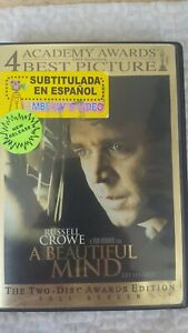 A Beautiful Mind (DVD, 2002, 2-Disc Set, Limited Edition Packaging Full Frame A…