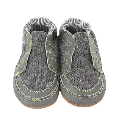 NEW Robeez Stylish Steve Soft Soles Canvas Baby Shoes Baby Boy Navy Blue