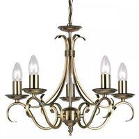 Endon Lighting 2030-5an 5 Light Chandelier In Antique Brass