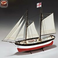 Elegant, Finely-detailed Amati Wooden Model Ship Kit: The hunter Q-ship