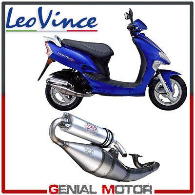 Tubo de escape motor de 04-18 LeoVince TT Vitality 50 U3-2