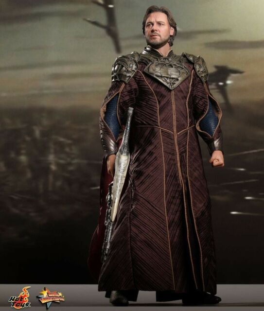 HOT TOYS 1/6 Figure 30cm JOR-EL Russell Crowe MAN OF STEEL Superman MMS201 Rare