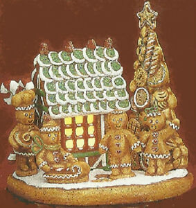 Ceramic bisque ready to paint gingerbread scene house for Ceramic based paint