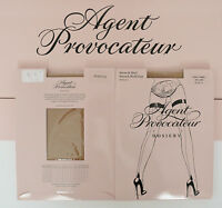 Agent Provocateur Nylon Fully Fasionned Hold Ups Champ Yellow Size A / Small / 1