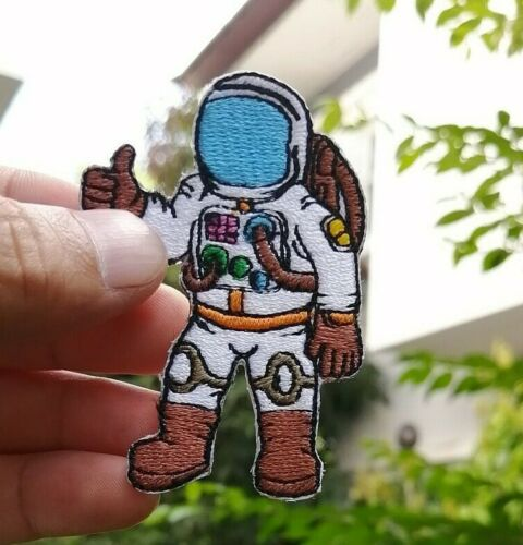 5Pcs Astronaut cosmonaut spaceman NASA USA Space Embroidered Iron-On Sew patch