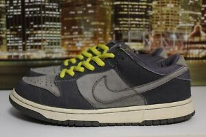 purchase cheap 56398 e92cd Details about Vintage Nike Dunk Low Pro B Lightning Graphite 2001  Skateboarding Sneakers Sz 8