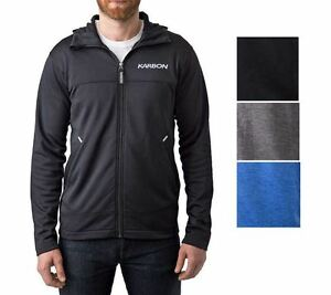 NWT-Men-039-s-Karbon-Full-Zip-Hoodie-Jacket-High-Scuba-Neck-VARIETY-SIZE-COLOR