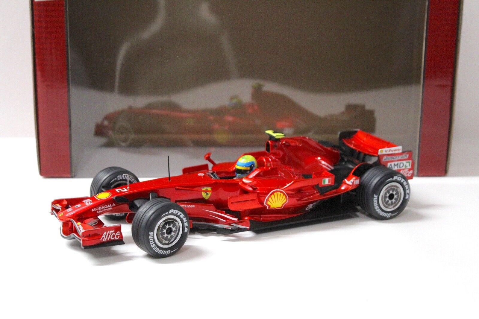 1 18 HOT WHEELS FERRARI f2008 f1 Felipe Massa  2 rosso NEW in Premium-MODELCARS