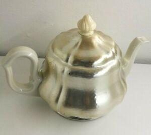 Teekanne Zeh Scherzer dezente graue Streifen original 50er
