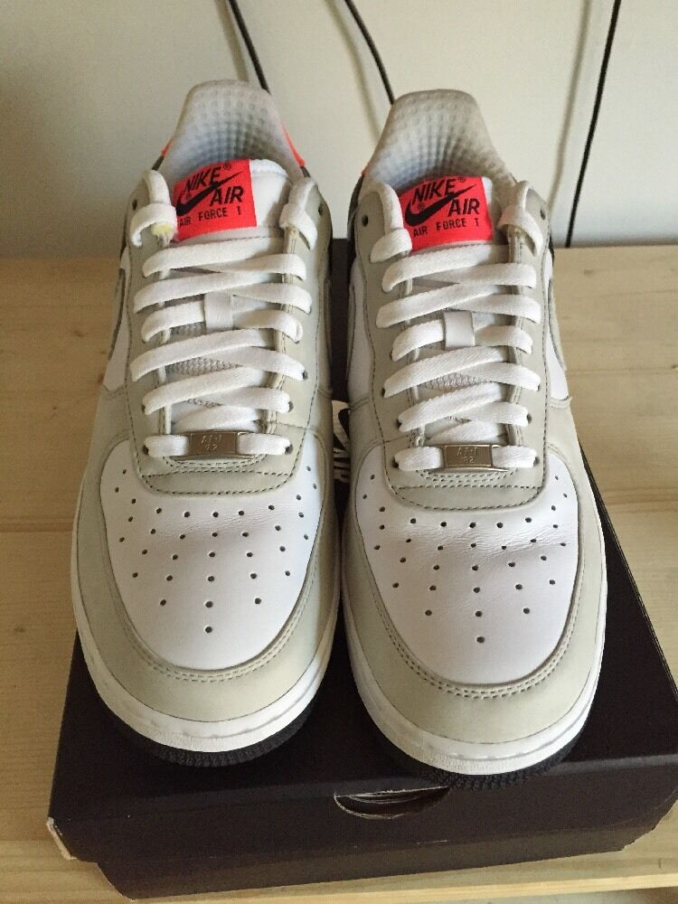 Nike Air Force 1 One Af1 Low Premium Infrared White Size 10 Mens 318775101 Bred