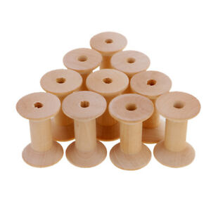 Lots 100 Vintage Wooden Empty Spools for Thread String Wires Trims 14mmx12mm