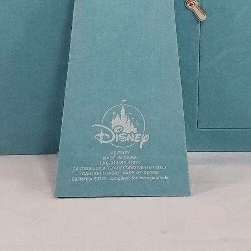 Disney Parks Minnie Mouse Blue Picture 5 x 7 Photo Frame Soft Faux Leather New