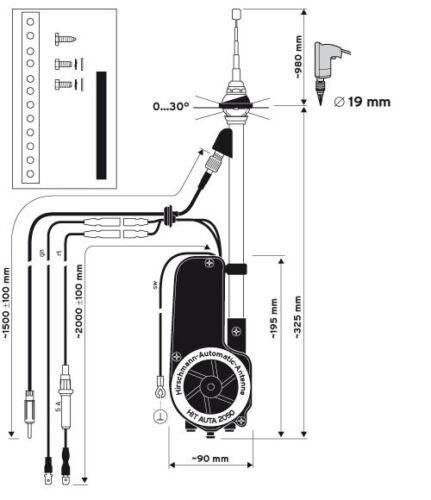 NEW Hirschmann Automatic Electric Power Radio Antenna Mercedes 380SL 450SL 560SL