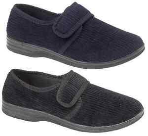 Mens negro de confort de lujo con Cable Rip TAPE Zapatilla Bota Zapato 6 7 8 9 10 11