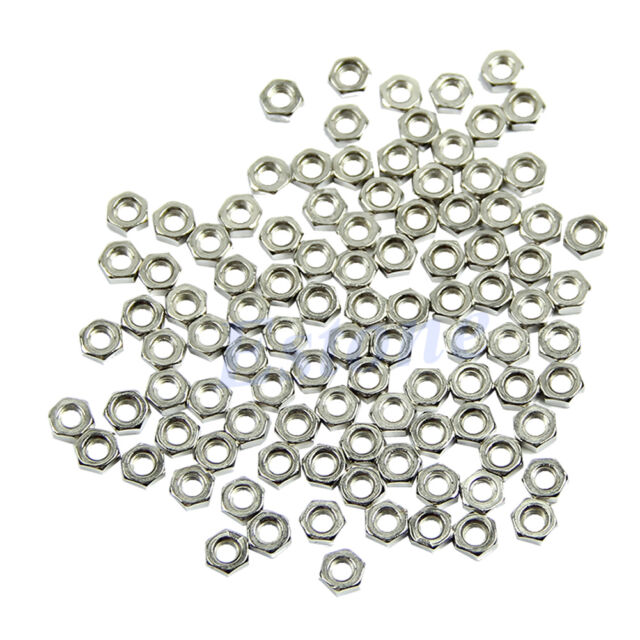 100pcs M3 Dia 3mm Hex Screw Nut Carbon Steel Nuts Good High Quality DIY New