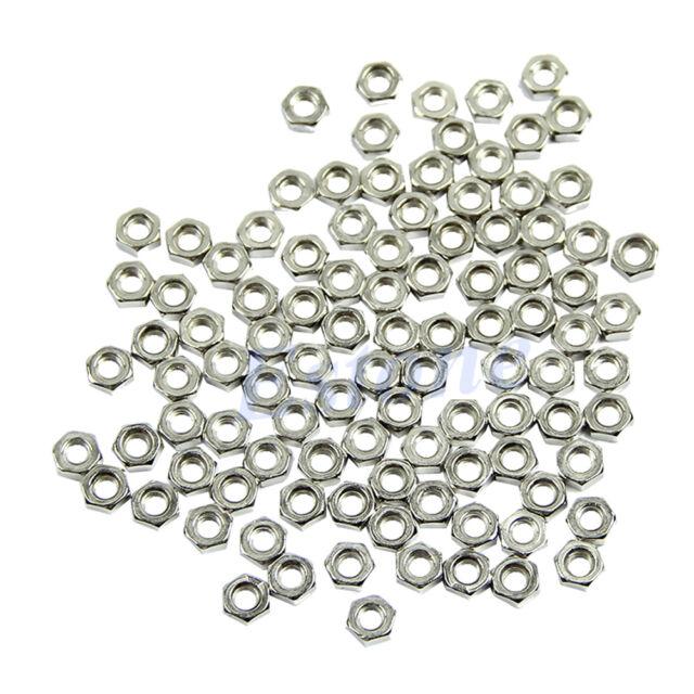 100pcs M3 Dia 3mm Hex Screw Nut Carbon Steel Nuts Good High Quality DIY New