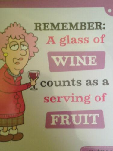 un verre de vin Acide tante..