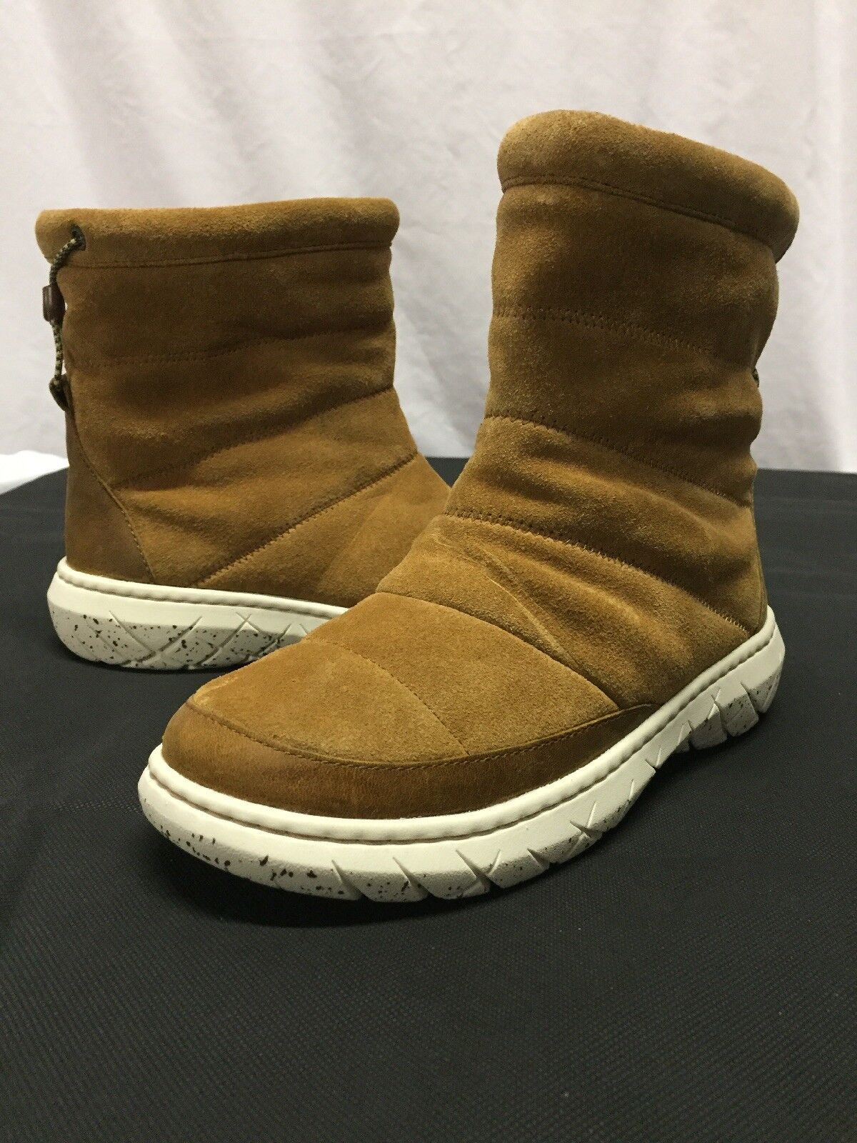 Sperry Top Sider GREENLAND Women's Apres Sea SNOW Boots, Tan Suede Size 7B
