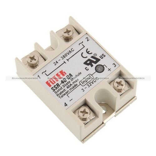 1 PC  New Solid State Relay SSR-40DA 40A 250V W I//O 3-32VDC//24-380VAC 90014063