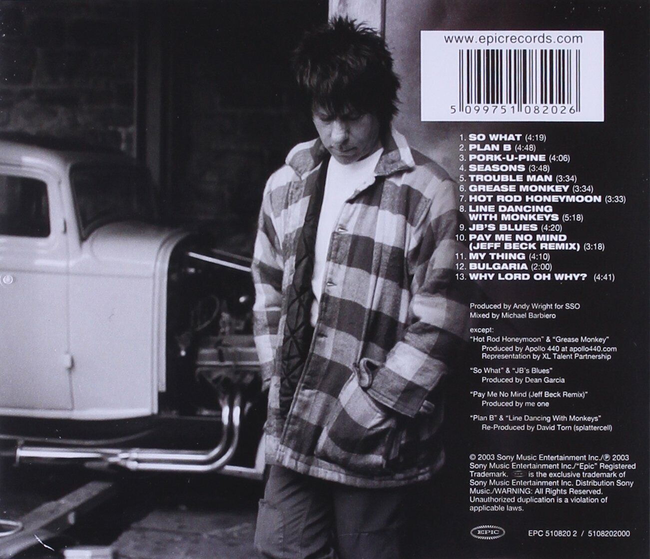 Jeff by Jeff Beck (CD, Aug-2003, Epic)