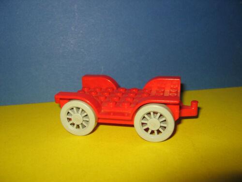 Lego Fabuland Auto Chassis Fahrgestell rot 4x8 für 3797 und 3679