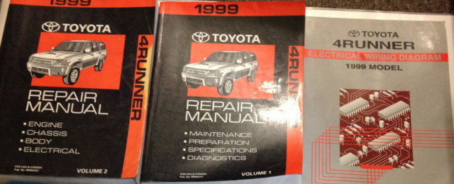 1999 Toyota 4runner 4 Runner Service Shop Repair Workshop