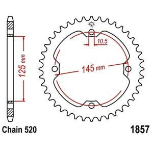 Details about Rear Sprocket 37 Tooth Pitch 520 For SMC/Barossa Black Hawk  250 2006