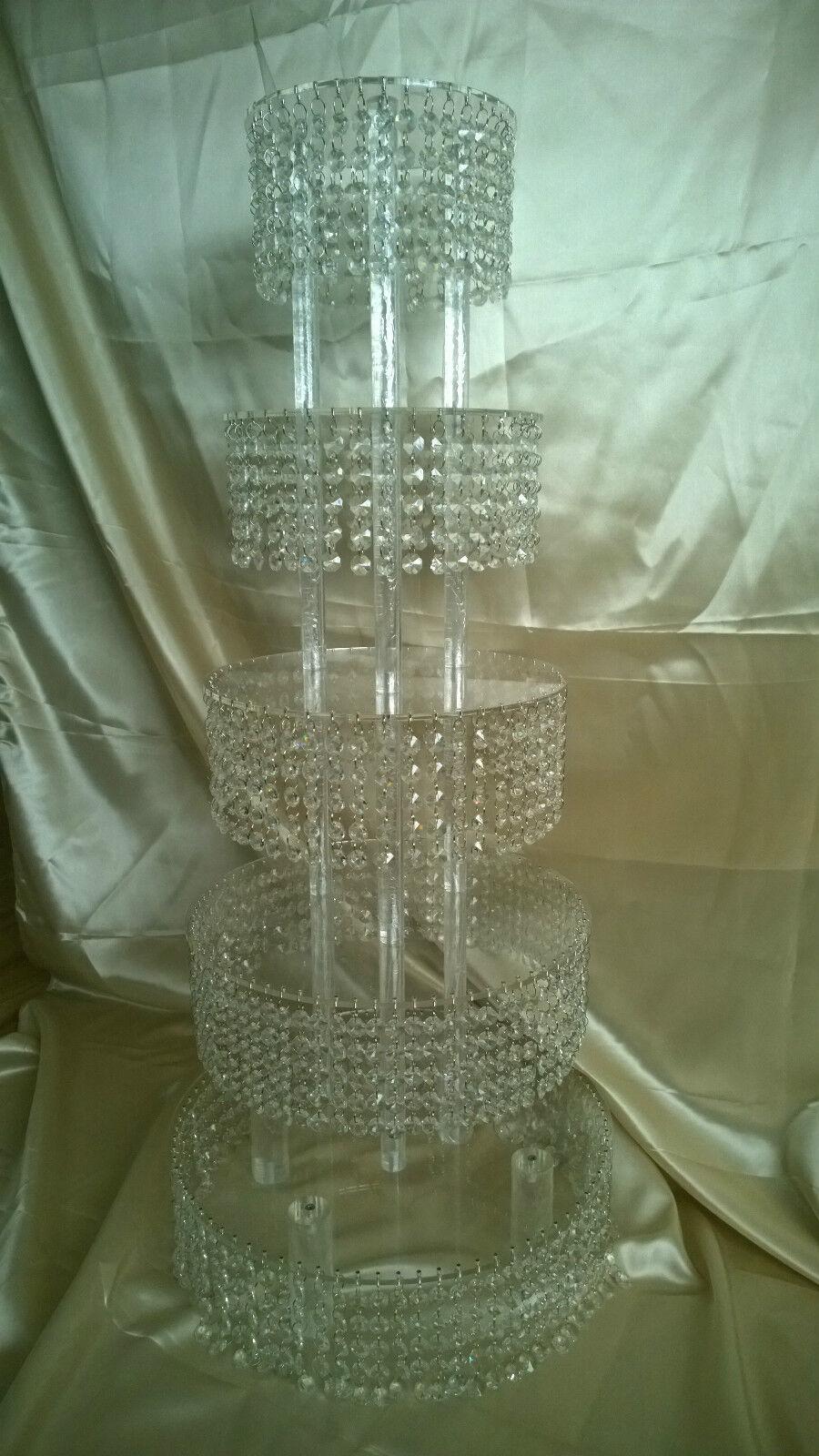 Crystal cupcake ou gateau stand tour 2, 3 ou 4 rangées cristal lustre style